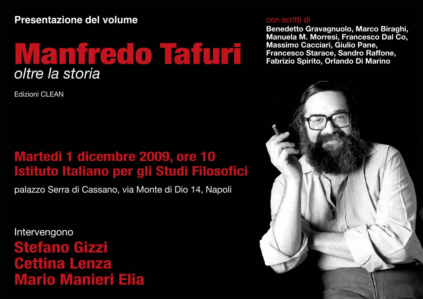 Manfredo Tafuri oltre la storia