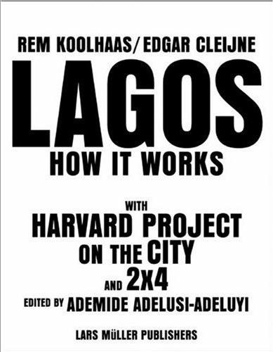 La copertina del libro non pubblicato Lagos. How It Works a cura di Rem Koolhaas e Edgar Cleijne così come appare su Amazon.com