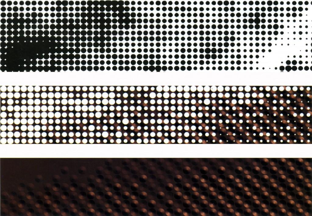Sequenza computerizzata della trasformazione delle immagini in pattern per la lavorazione delle lastre di rame ©H&dM