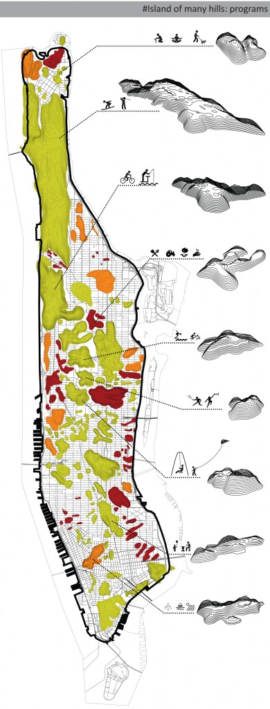 Architensions, Spontaneous Masterplan of NYC, 2011 ©Architensions