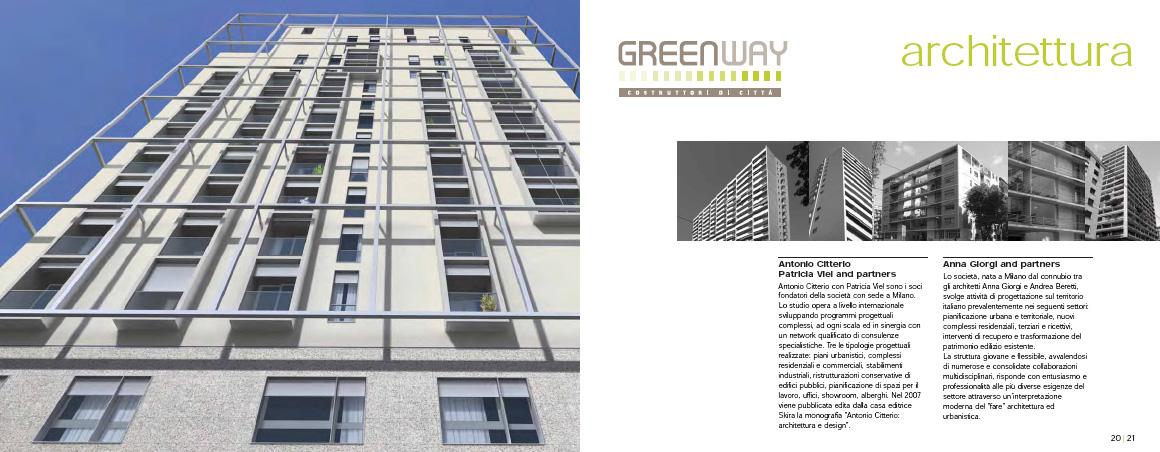 Brochure pubblicitaria delle abitazioni in via Lomazzo, Milano 2012 © Greenway