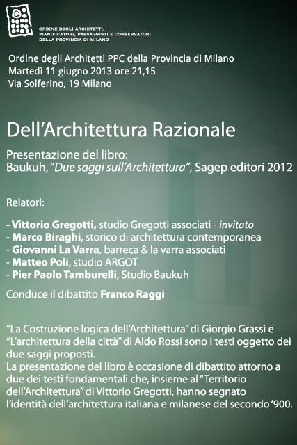 Dell'architettura razionale