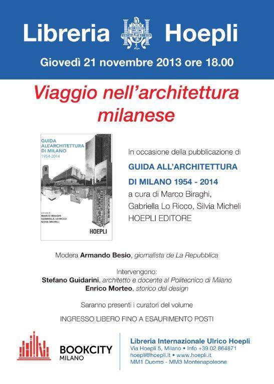 Presentazione della guida all'architettura di Milano
