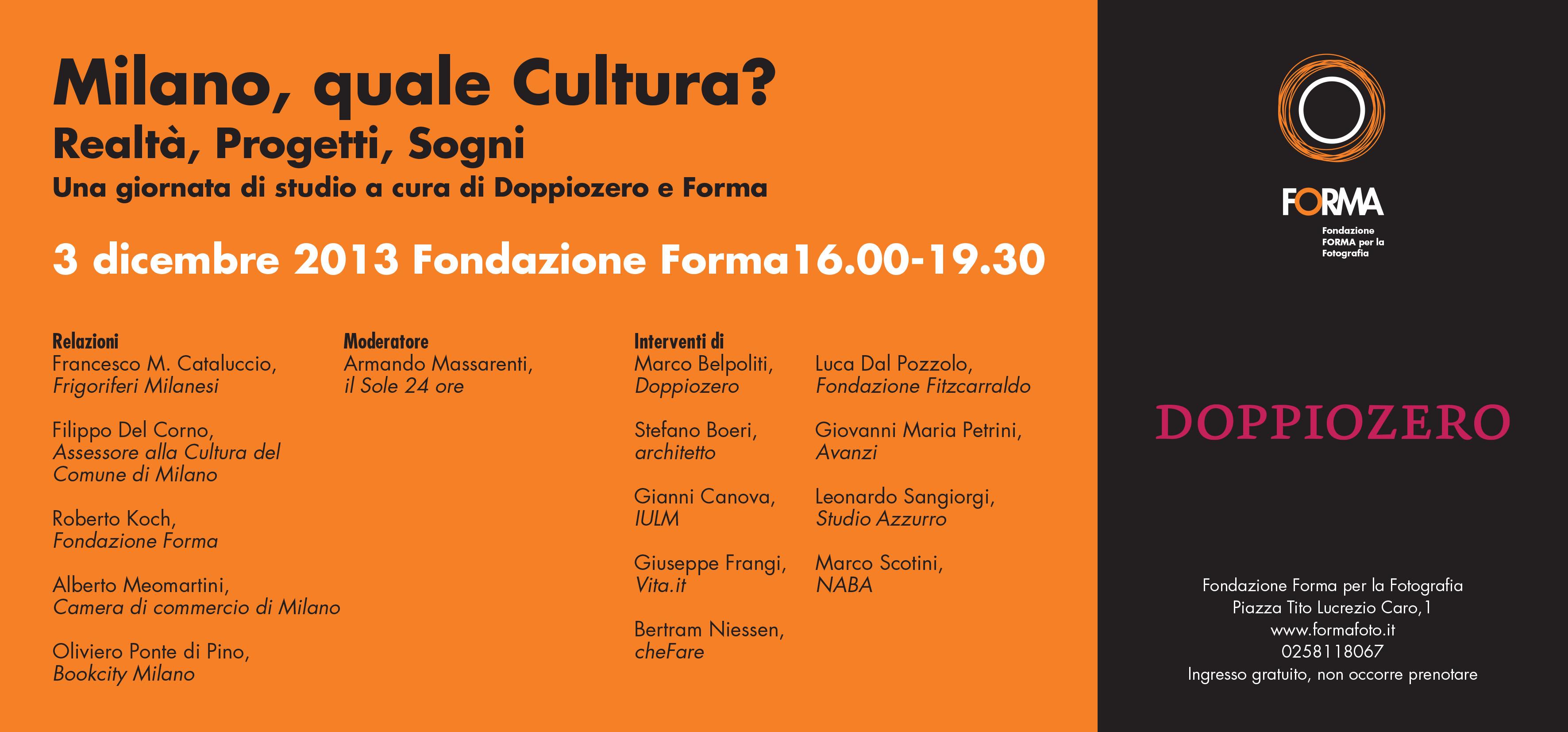 Milano, quale Cultura?