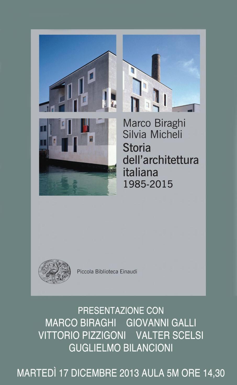 Presentazione della Storia dell'architettura italiana 1985-2015