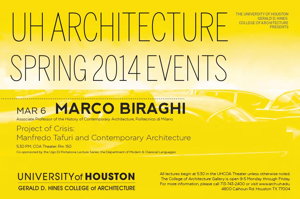 University of Houston Spring 2014 Events