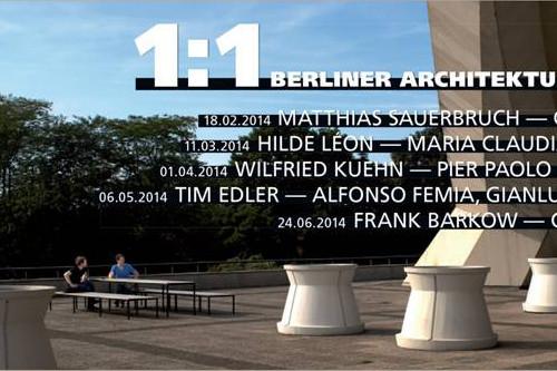 Berliner Architekturdialoge - Matthias Saeurbruch e Cino Zucchi