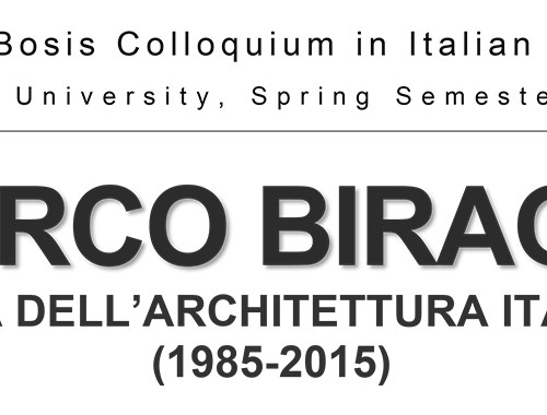 Harvard University - Lecture by Marco Biraghi