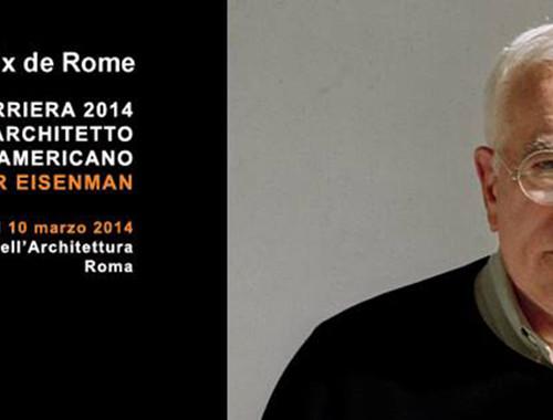 Peter Eisenman - lectio magistralis a Roma
