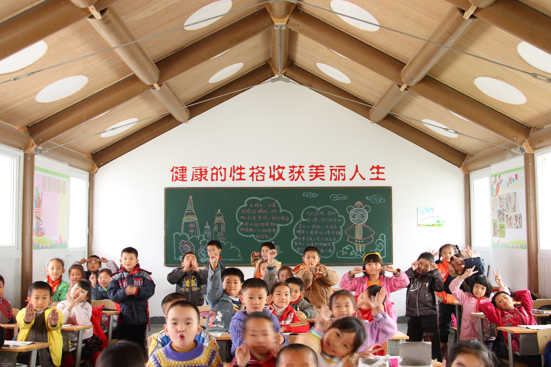 Hualin Temporary Elementary School, Chengdu, China 2008, Photo by Li Jun