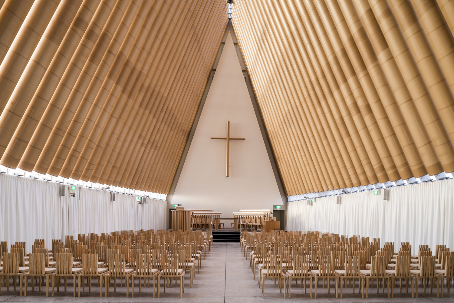 Cardboard Cathedral, New Zealand 2013,  Photo by Stephen Goodenough