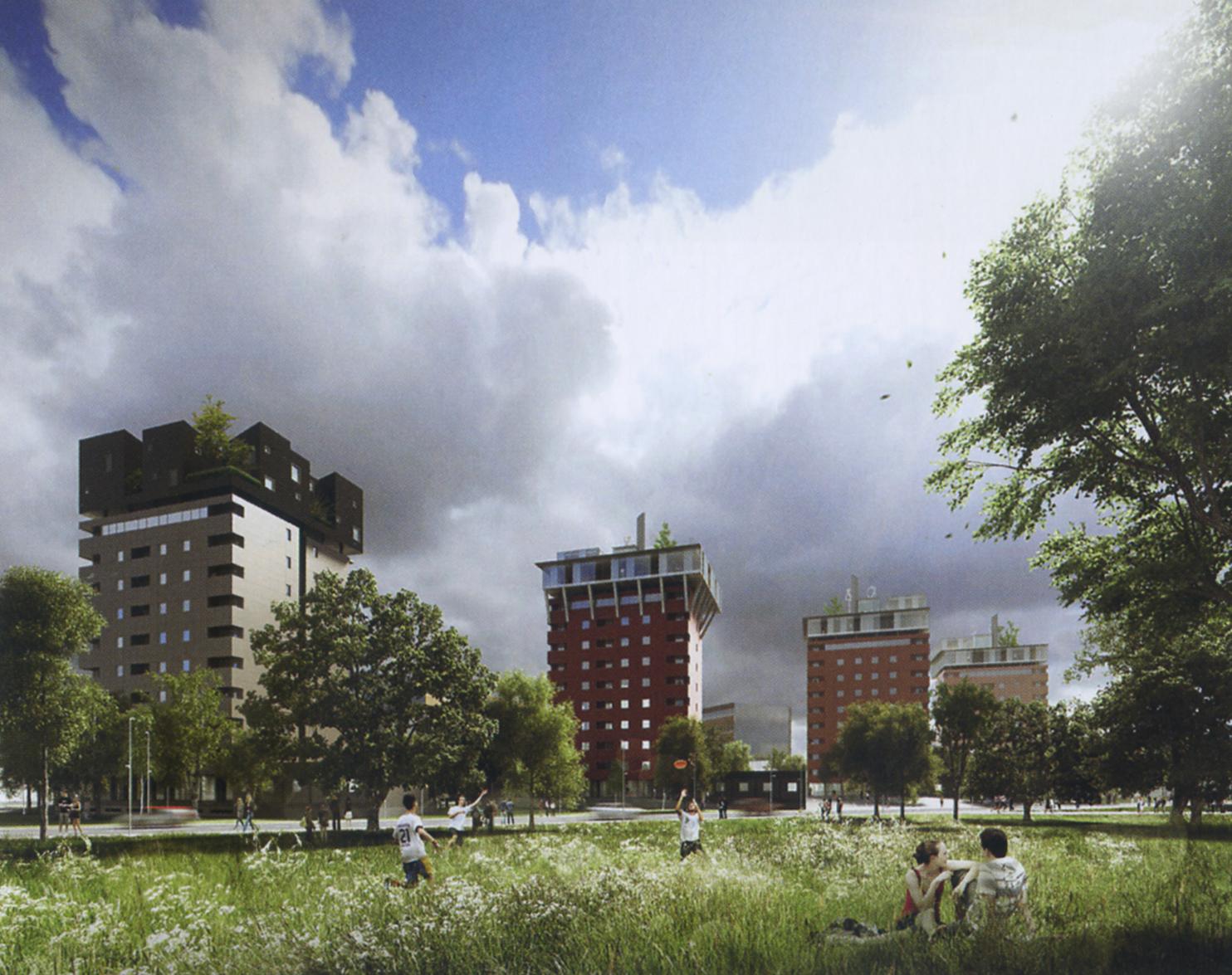 Mario Cucinella Architects, Riqualificazione e ampliamento del complesso residenziale ALER, via Russoli, Milano