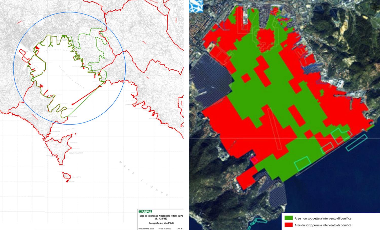 Individuazione aree da bonificare, Sito Pitelli, Golfo di La Spezia