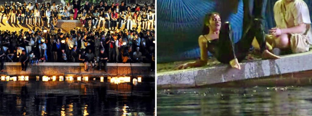 La Darsena di Milano sovraffollata durante la Notte delle Lanterne, il 24 giugno 2015. Fonte: www.repubblica.it // www.milanotoday.it