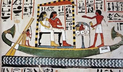 01. Barca sacra egizia-Tomba di Sennefer-XVIII dinastia-Sheikh Abd el-Qurna
