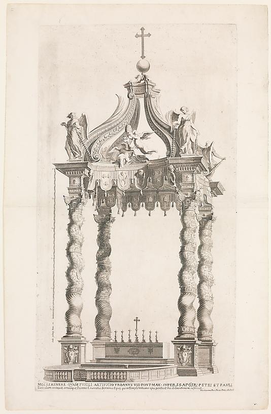 07. Baldacchino San Pietro-disegno
