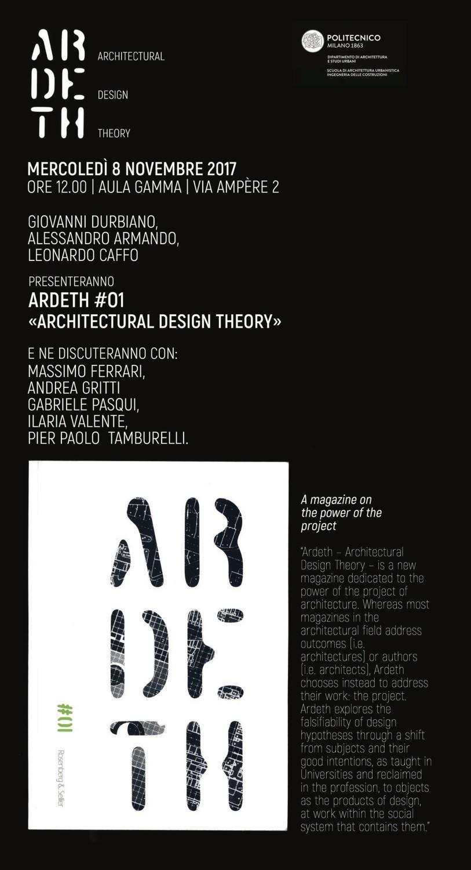 Locandina presentazione Ardeth